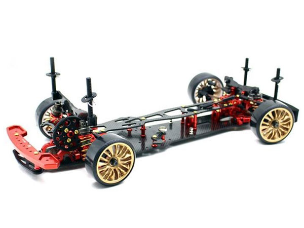 DRIFT ONROAD DRR-01 METALLIC RED 2 WD ROLLING CHASSIS 1:10EP