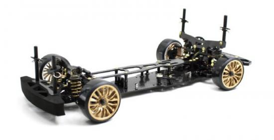 DRIFT ONROAD DRR-01 BLACK 2 WD ROLLING CHASSIS 1:10EP