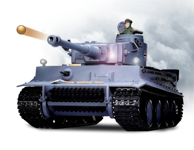 TIGER I TANK GREY WITH 6MM SHOOTER
