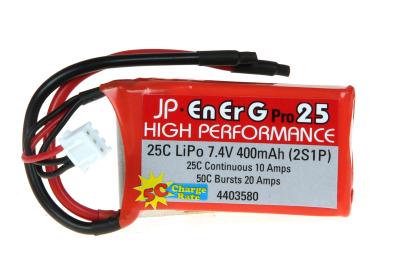 ENERG-PRO 25C LIPO 400 (2S1P) 5C CHARGE (XH)