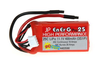 ENERG-PRO 25C LIPO 400 (3S1P) 5C CHARGE (XH)
