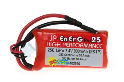 ENERG-PRO 25C LIPO 800 (2S1P) 5C CHARGE (XH)