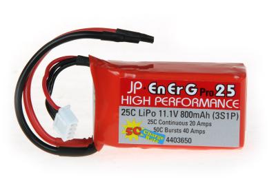 ENERG-PRO 25C LIPO 800 (3S1P) 5C CHARGE (XH)