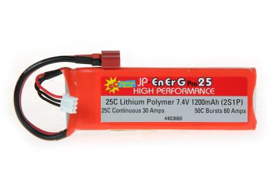 ENERG-PRO 25C LIPO 1200 (2S1P) 5C CHARGE (XH)