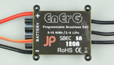 ENERG PRO B-120 SBEC ESC (120A) (2-6 CELLS)