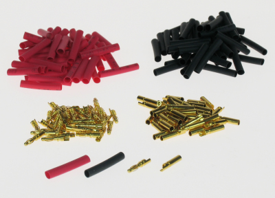 2MM GOLD CONNECTOR BULK (50 PAIRS + SHRINK)