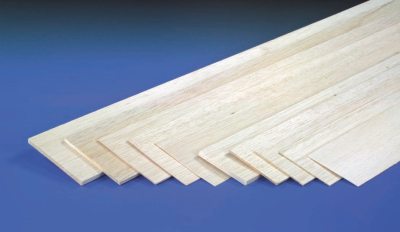 1.0MM X 100MM X 1MTR SHEET BALSA
