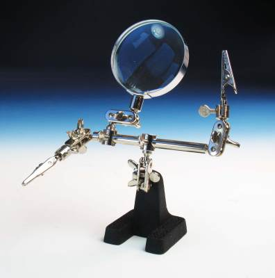 HELPING HAND WITH GLASS MAGNIFIER (PCL2228)