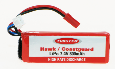 TWISTER HAWK POWER LI-POLY 7.4V 800MAH PACK