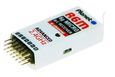 PLANET R6M 6CH 6 GRAM 2.4GHZ RECEIVER