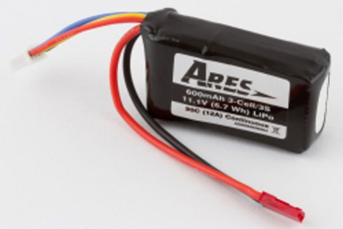 BATTERY 11.1V - 600mAh - 20C FOR ARES P51D MUSTANG