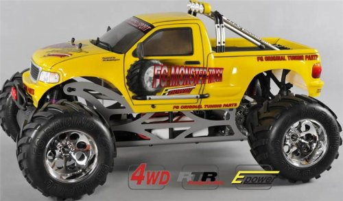 MONSTER TRUCK WB535E, 4WD, RTR, YELLOW BODY