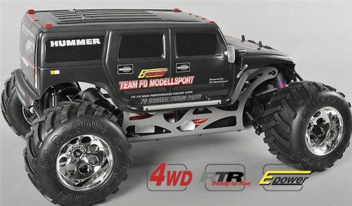 MONSTER HUMMER WB 535E - 4WD - ELECTRIC -  RTR  BLACK BODY