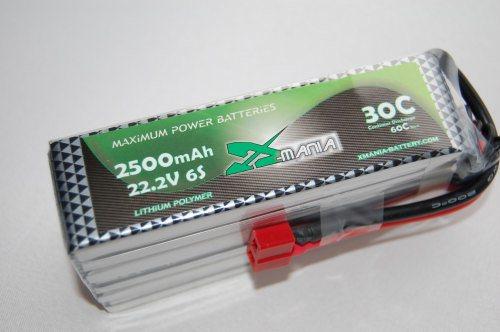 22.2V 2500mAh 30C  DEANS - XH