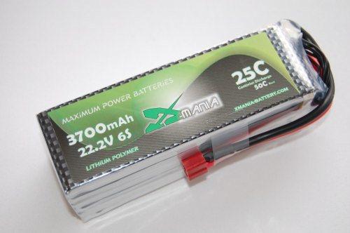 22.2 V / 3700mAh 25C  DEANS - XH