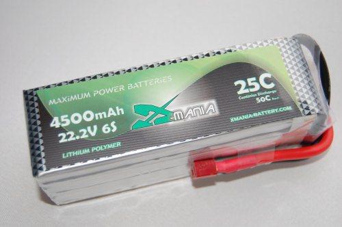 22.2 V / 4500mAh 25C  DEANS - XH