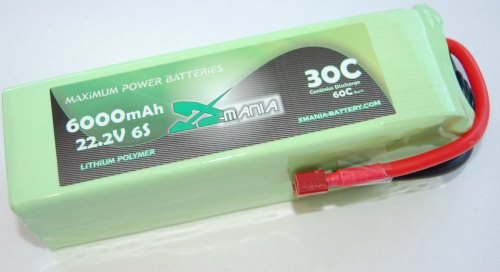 22.2V 6000mAh 30C  DEANS - XH
