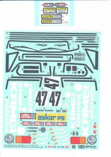 STICKER BAG FOR BODY - GOLF MK2 #84316