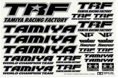 TRF STICKER C MIRRIRBORDER BLACK