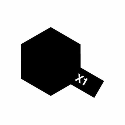 ENAMEL PAINT X-1 BLACK 10ML