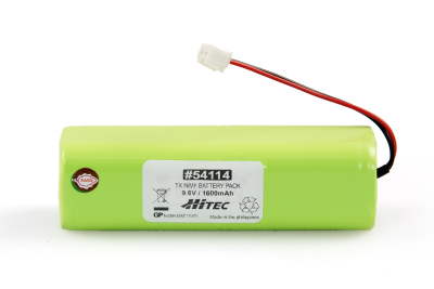 TX NIMH BATTERY PACK 9.6V, 1600MAH ELCO (CYLINDER TYPE)