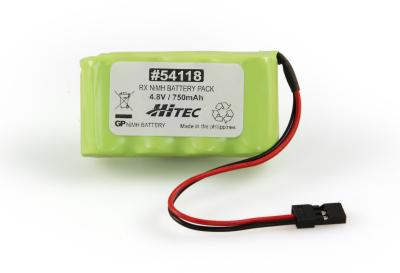 RX NIMH BATTERY PACK 4.8V, 750MAH (FLAT TYPE)