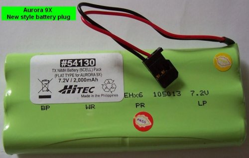 BATTERY TX NIMH BATTERY PACK 7.2V, 200MAH FLAT FOR AURORA 9X