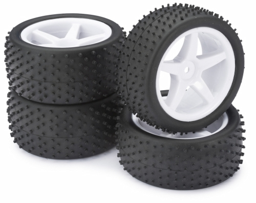 WHEEL SET BUGGY 5-SPOKE / DIRT WHITE 1:10 (4 PCS)