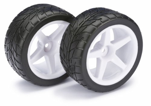 WHEEL SET BUGGY 5-SPOKE / STREET REAR WHITE 1:10 (2 PCS)