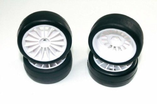WHEEL SET ONROAD 15 SPOKE / SLICK WHITE 1:10 (4 PCS)