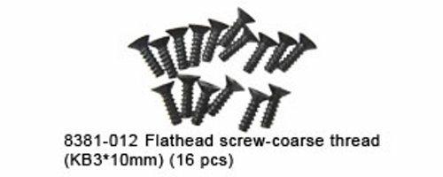 FLATHEAD SCREW-COARSE THREAD(KB3*10MM) (16 PCS)