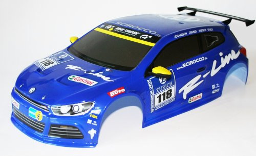 BODY VW SCIROCCO - BLUE WITH DECALS CV-10