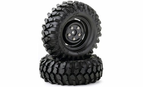TIRE SET CRAWLER 96MM BLACK SCALE TRIM